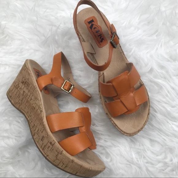 f2ac83c7958 Kork-Ease Shoes - Korks by Kork-Ease Della Wedge Sandals Orange Sz8
